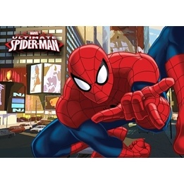 Disney - Spiderman Barnmatta - Motorcykel