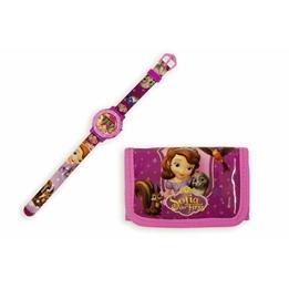 Disney - Prinsessan Sofia Giftset Armbandsur Och Plånbok
