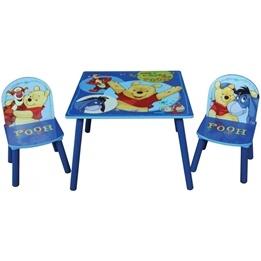 Disney - Nalle Puh Bord Med 2 Stolar Blå