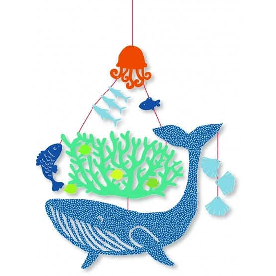 Djeco - Mini Mobile, Whale Under Water