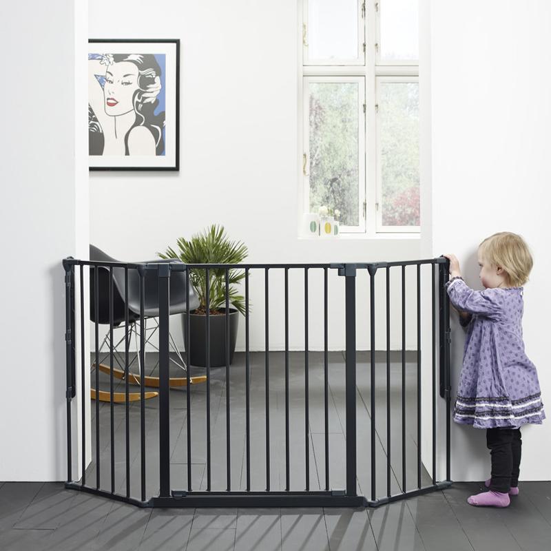 Baby dan flex m 90 146 cm svart for Cancello bambini ikea