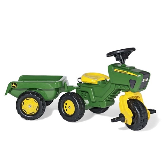 Rolly Toys - Rollytrac John Deere With Sound - Rollykid Trailer