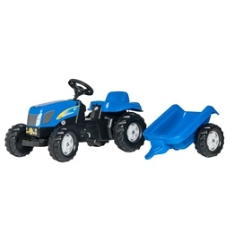 Rolly Toys - Rollykid New holland T 7040 Med släp