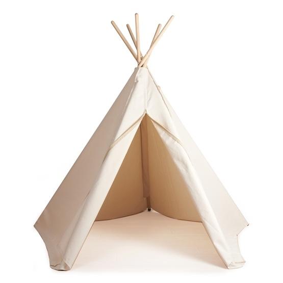 Hippie Tipi Lektält - 100% Ekologisk Bomull - Nature