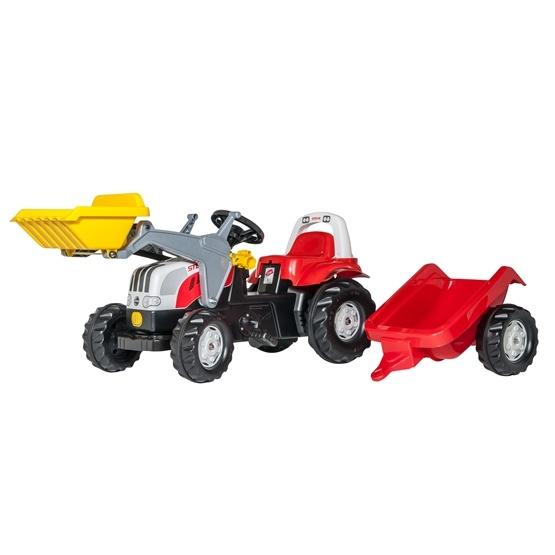 Rolly Toys - Rollykid Steyr 6190 Cvt - Rollykid Lader - Rollykid Trailer