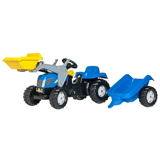 Rolly Toys - Rollykid New Holland T 7040 - Rollykid Lader - Rollykid Trailer