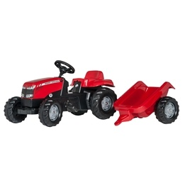 Rolly Toys - Massey Ferguson Traktor med släp