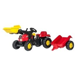 Rolly Toys - Rollykid-X Röd Traktorlastare med släp