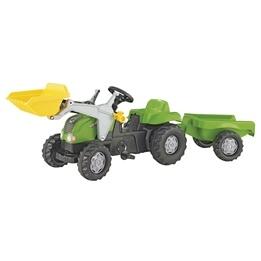 Rolly Toys - Rollykid-x grön Traktorlastare med släp