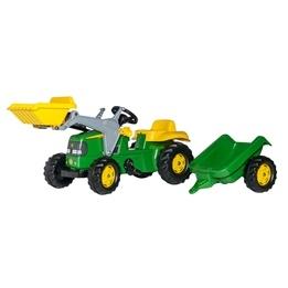Rolly Toys - John Deere traktorlastare med släp