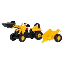 Rolly Toys - JCB traktorlastare med släp