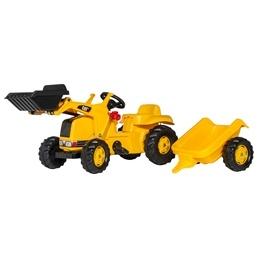 Rolly Toys - CAT Traktorlastare med släp