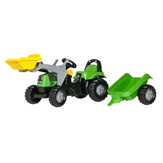 Rolly Toys - Deutz Fahr traktorlastare med släp