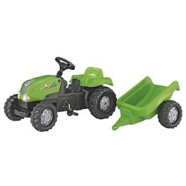 Rolly Toys - Rollykid-x grön traktor med släp