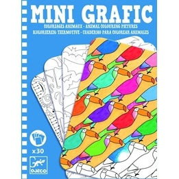 Djeco - Mini Grafic - Animal Colouring Pictures