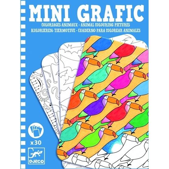Djeco - Mini Grafic - Animal Colouring Pictures