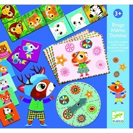 Djeco - 3 Spel I Ett - Little Friends