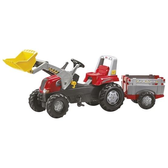 Rolly Toys - Rollyjunior traktorlastare med släp