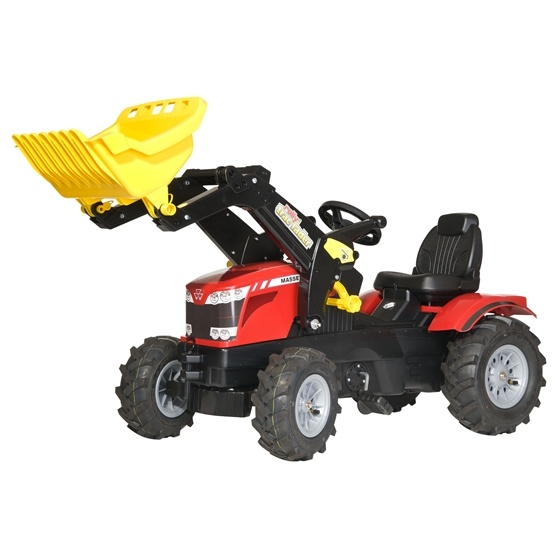 Rolly Toys - Rollyfarmtrac Massey Ferguson 8650 - Rollytrac Lader - Pneum. Wheels