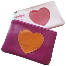 Lollipop - Sminkväska med hjärta - Ljusrosa