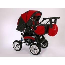 Baby Merc - Agat 2 In 1 kombibarnvagn - Röd/Grå