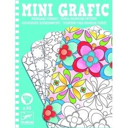 Djeco - Mini Grafic - Floral Colouring Pictures