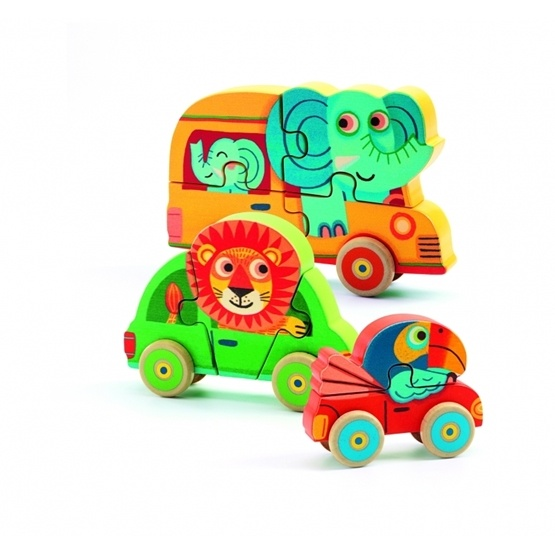 Djeco - Wooden Puzzle, Pachy & Co