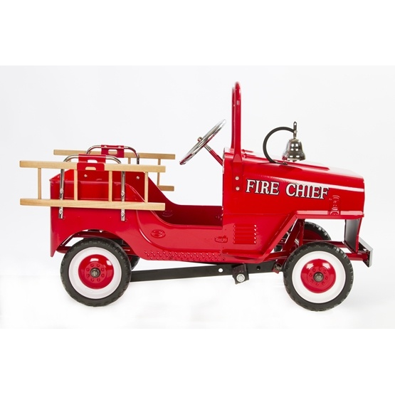 Elite Toys - Brandbil - Metal Ride On Pedal - Fire Truck