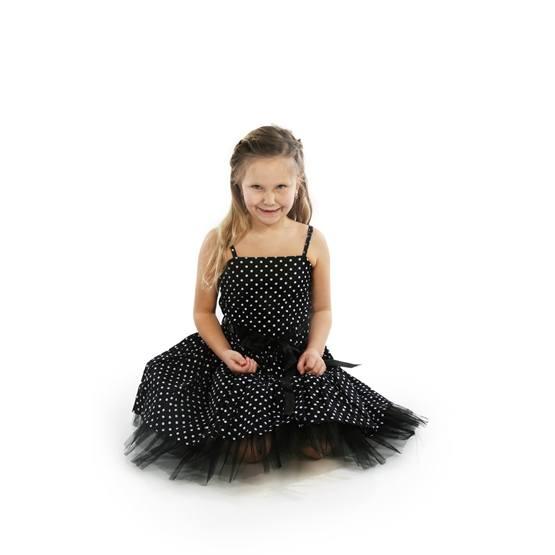 Minisa - Prickklänning Svart