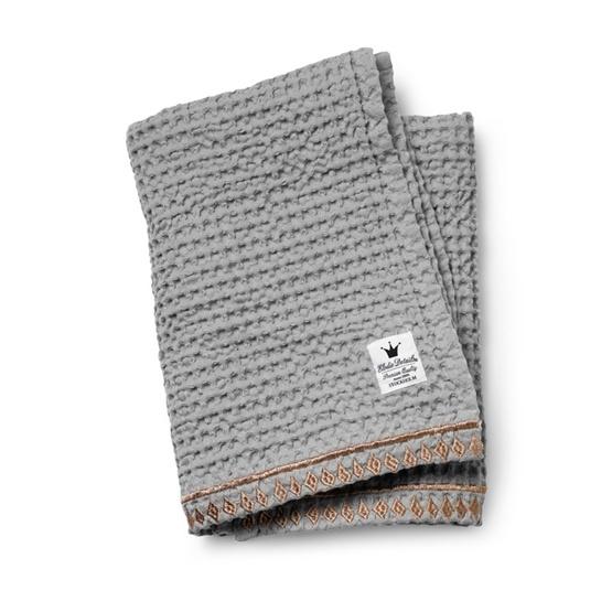 Elodie Details - Våffelvävd filt - Gilded Grey - Ekologisk