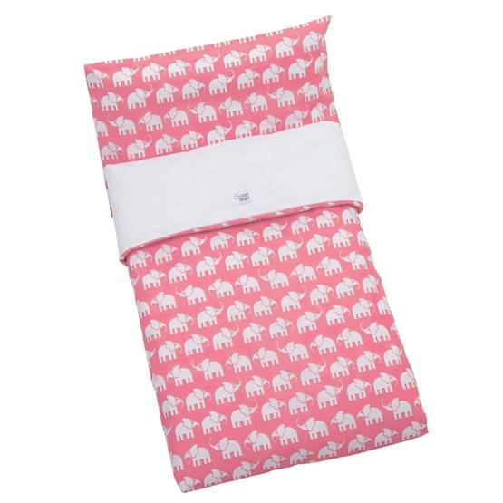 Rätt Start - Påslakan Säng - Rosa Elefant