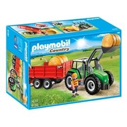 Playmobil - Bondgård - Traktor Med Släp