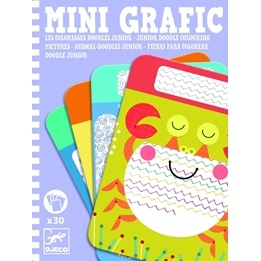 Djeco - Junior Doodle Colouring Pictures