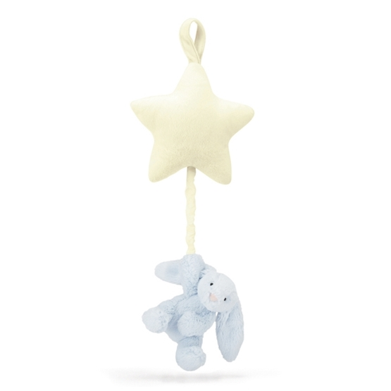 Jellycat - Bashful Blue Bunny Star Musical Pull