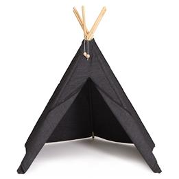 Hippie Tipi - Lektält - 100% Ekologisk Bomull - Antrachite