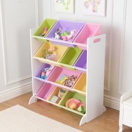 Kidkraft - Förvaringslådor - Sort It and Store It Bin Unit - White Pastel