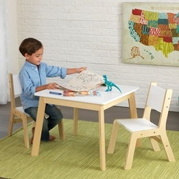 Kidkraft - Bord Och Stolar - Modern Table & 2 Chairs Set