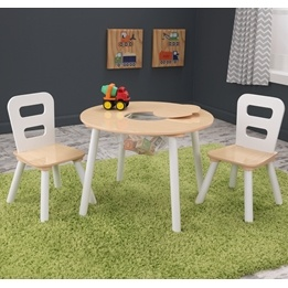 Kidkraft - Bord Och Stolar - Round Storage Table and Chair Set