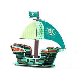 Djeco - Pirate Boat 3D