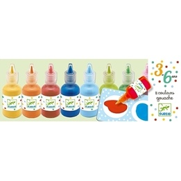 Djeco - 8 Bottles Of Poster Paint