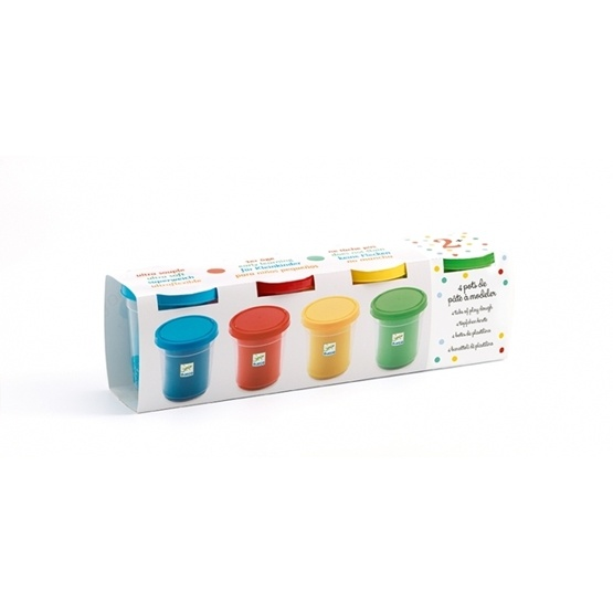 Djeco - 4 Tubs Of Play Dough