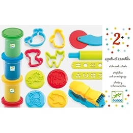 Djeco - 4 Tubs And 21 Tools