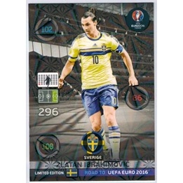 Fotbollskort - Limited Edition - Adrenalyn Road to Euro 2016 - Zlatan Ibrahimovic