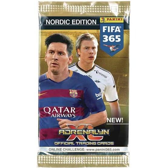 Fotbollskort - Paket - Nordic Edition Panini Adrenalyn XL - FIFA 365 2015-16
