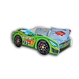 Cool Beds - Barnsäng Med Madrass - Car Green