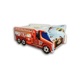 Cool Beds - Barnsäng Med Madrass - Fire Truck - 140 x 70 Cm