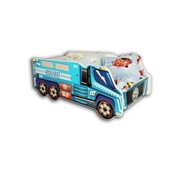 Cool Beds - Barnsäng Med Madrass - Police Truck - 140 x 70 Cm