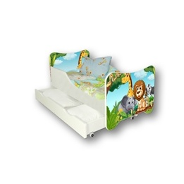 Cool Beds - Barnsäng Med Madrass Och Låda - Africa