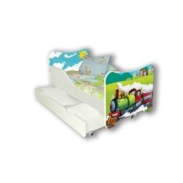 Cool Beds - Barnsäng Med Madrass Och Låda - Choo Choo