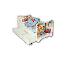 Cool Beds - Barnsäng Med Madrass Och Låda - Fire Truck